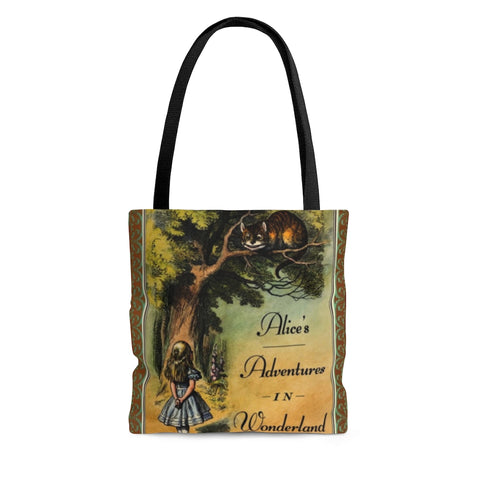 Alice's Adventures In Wonderland Book Cover Tote Bag - Gifts For Reading Addicts