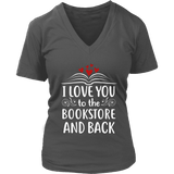 """I love you"" V-neck Tshirt - Gifts For Reading Addicts"