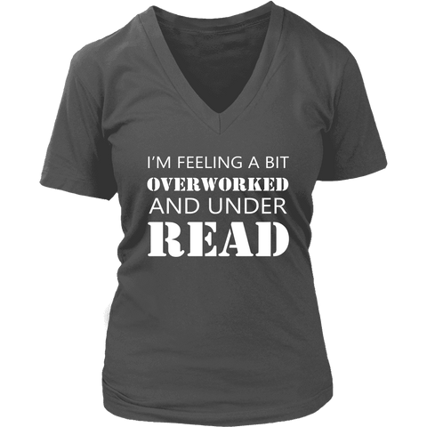 """Under Read"" V-neck Tshirt - Gifts For Reading Addicts"