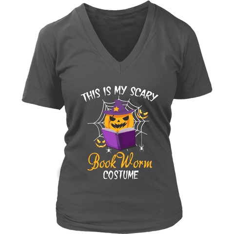 """Bookworm costume"" V-neck Tshirt - Gifts For Reading Addicts"