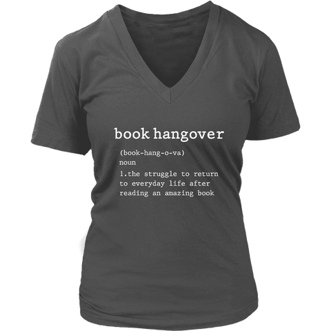 """Book hangover"" V-neck Tshirt - Gifts For Reading Addicts"