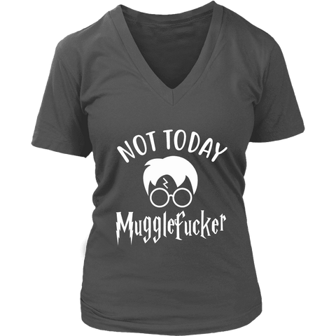 """Not Today"" V-neck Tshirt - Gifts For Reading Addicts"