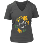 """just read"" V-neck Tshirt - Gifts For Reading Addicts"