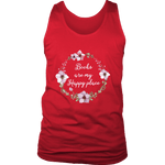 """Happy place"" Men's Tank Top - Gifts For Reading Addicts"