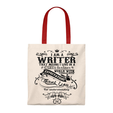 I'm A Writer Canvas Tote Bag - Vintage style - Gifts For Reading Addicts