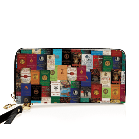 """Outlander""Men and Women's PU Leather Wallet around Long Clutch Purse - Gifts For Reading Addicts"