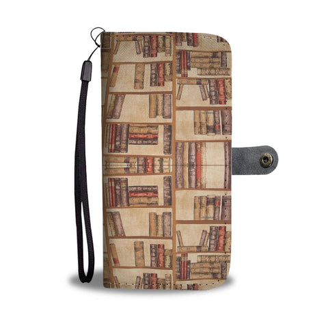 """Book pattern""brown wallet case - Gifts For Reading Addicts"