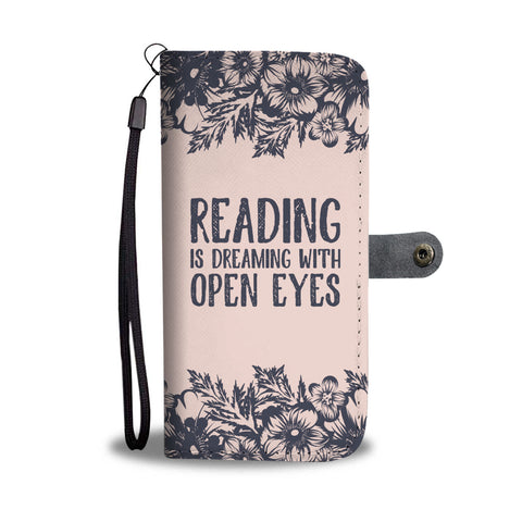 """Reading is dreaming""wallet case"