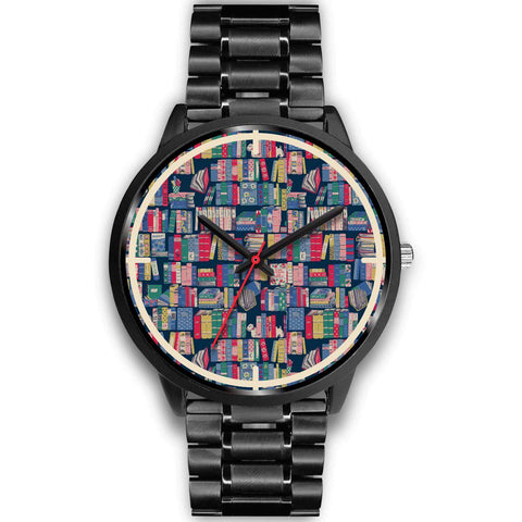 """Book pattern""black watch - Gifts For Reading Addicts"