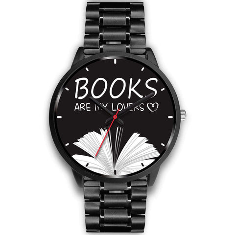 """Books are my lovers""black watch - Gifts For Reading Addicts"