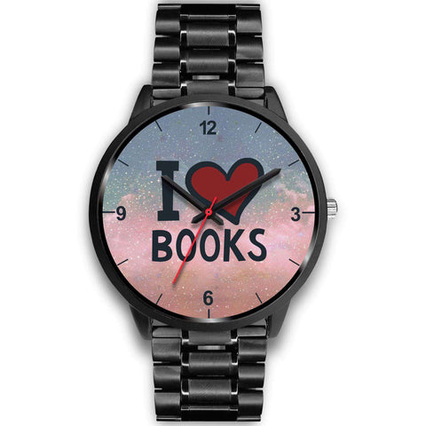 """I love books""black watch - Gifts For Reading Addicts"
