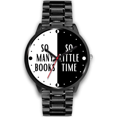 """so many books so little time""black watch - Gifts For Reading Addicts"