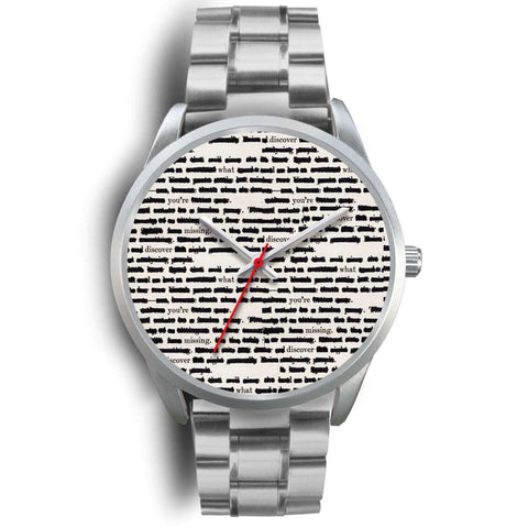 Silver bookish watch - Gifts For Reading Addicts