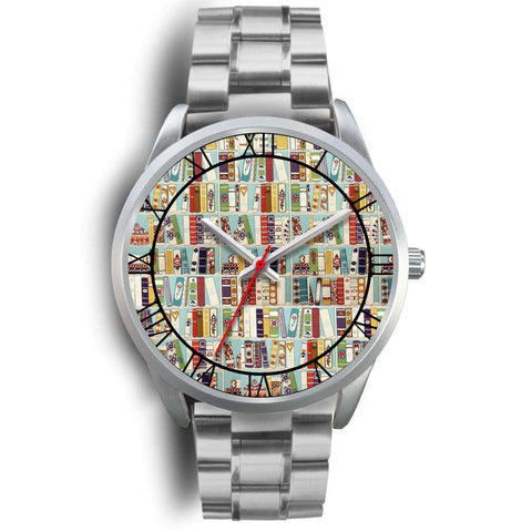 """Book patter""silver watch - Gifts For Reading Addicts"