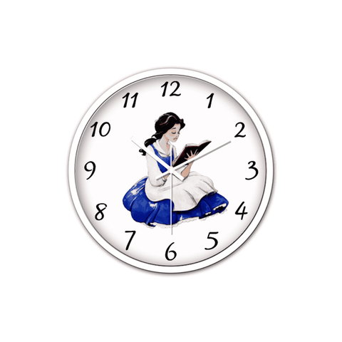 Bookish Non-Ticking Silent Wall Clock with Modern and Nice Design for Wall Decoration (White)