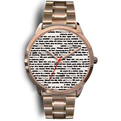 Rose gold bookish watch - Gifts For Reading Addicts