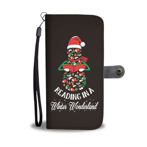 """Reading in winter wonderland""wallet case - Gifts For Reading Addicts"