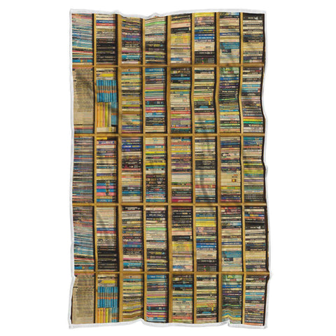 Book shelf pattern blanket