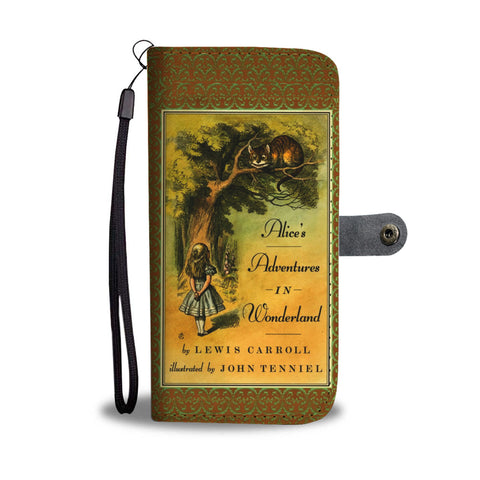 Alice's adventures in wonderland wallet case - Gifts For Reading Addicts