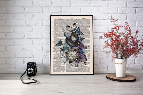 Alice in wonderland poster - Gifts For Reading Addicts