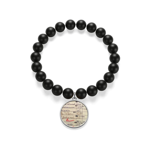 Library Card Matte Onyx Bracelet - Gifts For Reading Addicts
