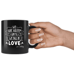 """We fall in love""11oz black mug"