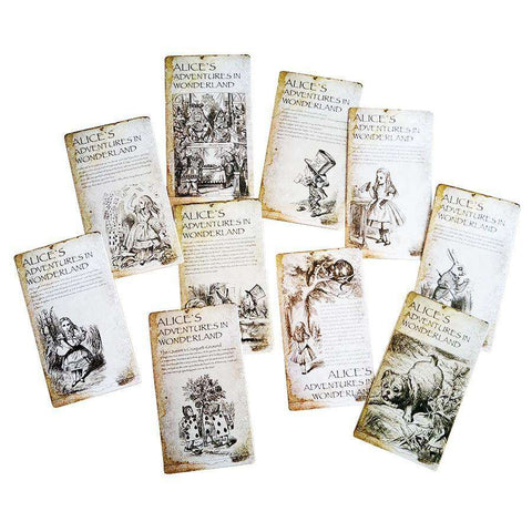 Alice in Wonderland Vintage 20pcs Postcard Set