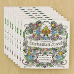 24 Pages Enchanted Forest English Edition Coloring Book For Adult & Children