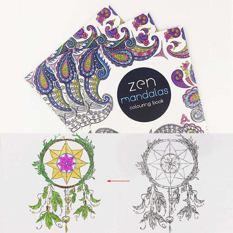 24 Pages Mandalas Flower  Coloring Book For Adult and kids