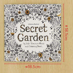 24 Pages Secret Garden English Edition Coloring Book For Adult & Children - Gifts For Reading Addicts