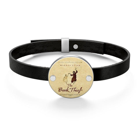 """The Book Thief""Book Cover Leather Bracelet - Gifts For Reading Addicts"