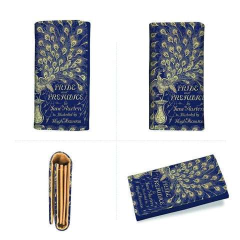 """pride and prejudice""Book Cover Womens Wallet"