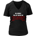 'EleveN' V-neck Tshirt-For Reading Addicts
