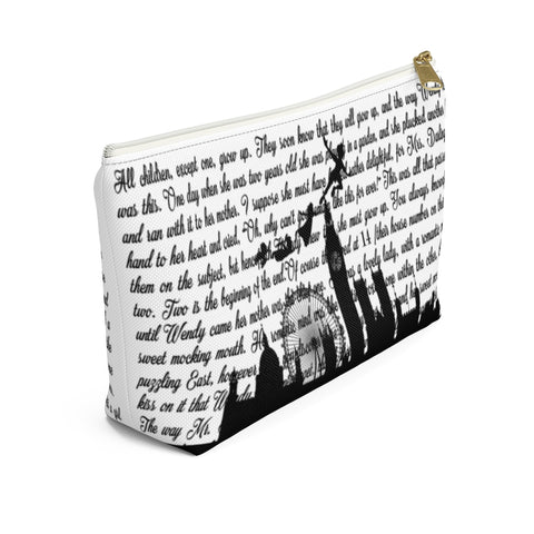 Peter Pan Book Page Accessory Pouch for book lovers - Gifts For Reading Addicts