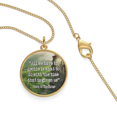 The Lord Of The Rings Quote Single Loop Necklace - Gifts For Reading Addicts
