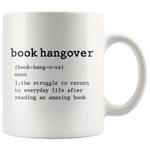 """book hangover""11oz white mug - Gifts For Reading Addicts"