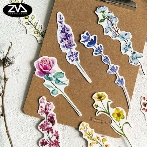 30 pcs/pack Flower  Plant  Bookmarks
