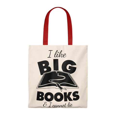 I Like Big Books & I Cannot Lie Canvas Tote Bag - Vintage style - Gifts For Reading Addicts
