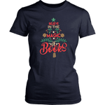 """The magic of books"" Women's Fitted T-shirt - Gifts For Reading Addicts"