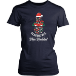 """Reading in a winter wonderland"" Women's Fitted T-shirt - Gifts For Reading Addicts"