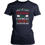 """Christmas Cheer"" Women's Fitted T-shirt"