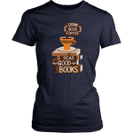 """Drink Good Coffee"" Women's Fitted T-shirt - Gifts For Reading Addicts"
