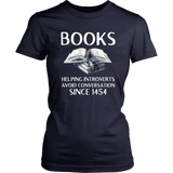"""Books"" Women's Fitted T-shirt - Gifts For Reading Addicts"