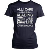 """All I Care About Is Reading"" Women's Fitted T-shirt"