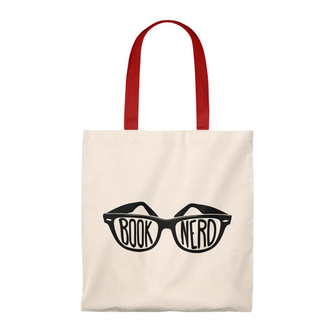 Book Nerd Canvas Tote Bag - Vintage style - Gifts For Reading Addicts