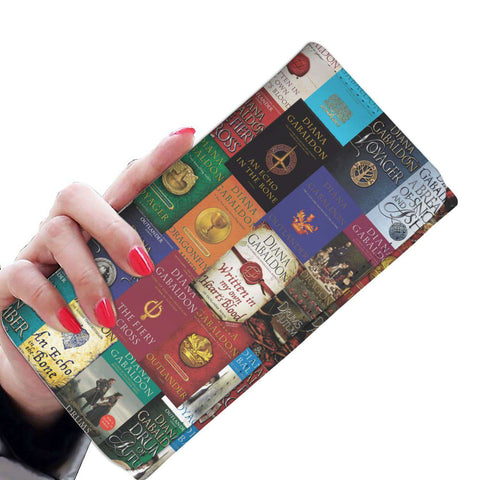 """Outlander"" Book Covers pattern Womens Wallet - Gifts For Reading Addicts"