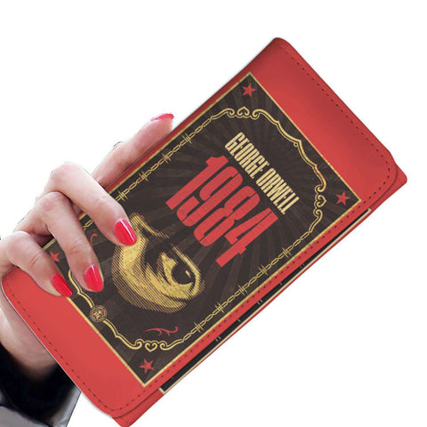 """1984""Book Cover Womens Wallet"