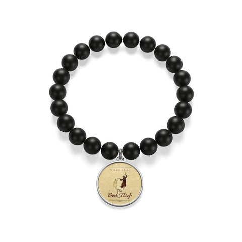 """The Book Thief""Book Cover Matte Onyx Bracelet - Gifts For Reading Addicts"