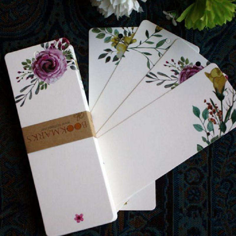 40pcs/lot Creative Flower Bookmarks
