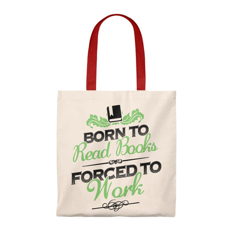 Born To Read Books Canvas Tote Bag - Vintage style - Gifts For Reading Addicts